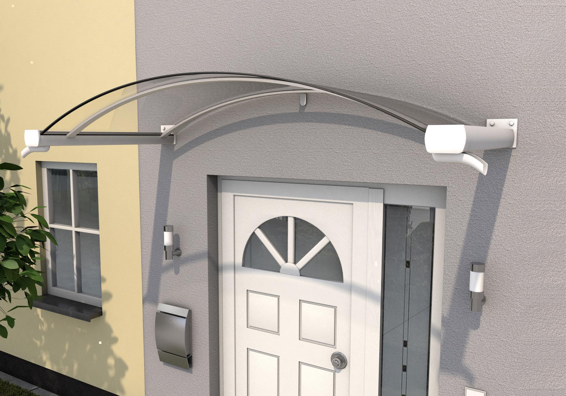 Überdachung Vordach Haustür Pultvordach Haus Türvordach Haustürvordach Weiß